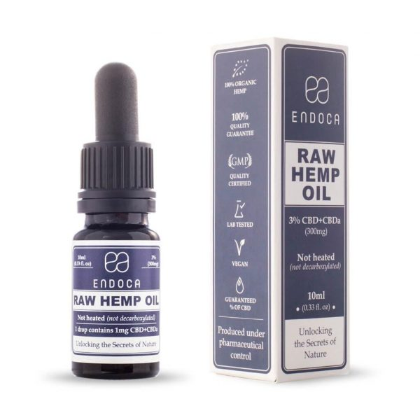 Buy Raw CBD Oil (Endoca) 3% 10ml