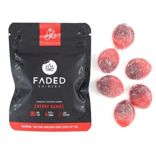 Buy Faded Edibles Vegan Cherry Bombs UK