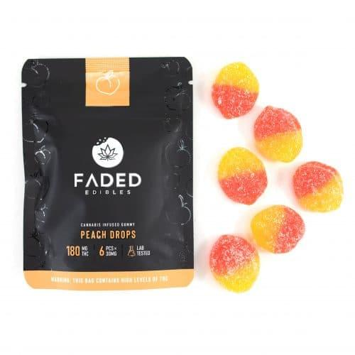 Buy Faded Edibles Vegan Peach Drops UK